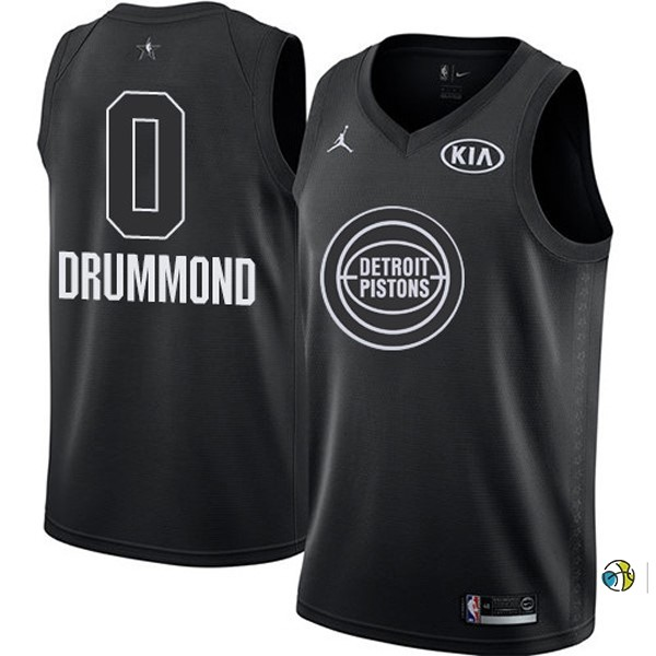 Maillot NBA 2018 All Star NO.0 Andre Drummond Noir