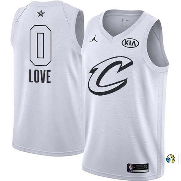 Maillot NBA 2018 All Star NO.0 Kevin Love Blanc