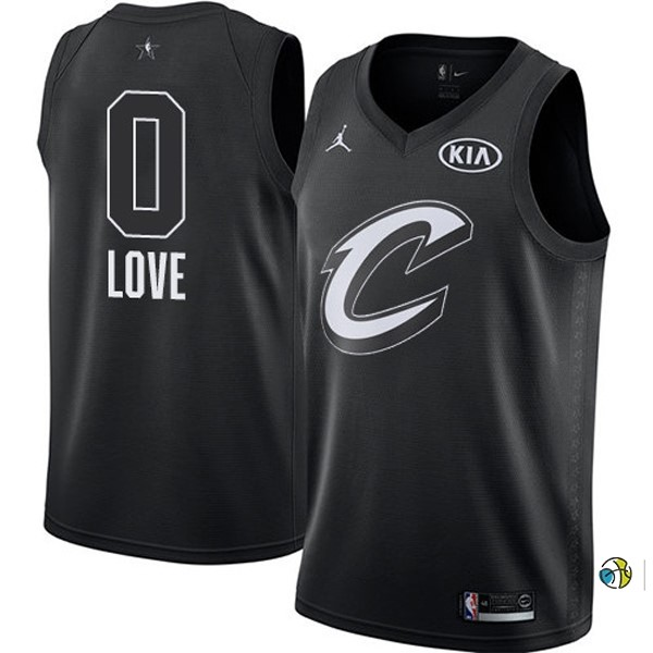 Maillot NBA 2018 All Star NO.0 Kevin Love Noir