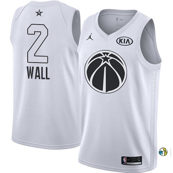 Maillot NBA 2018 All Star NO.2 John Wall Blanc