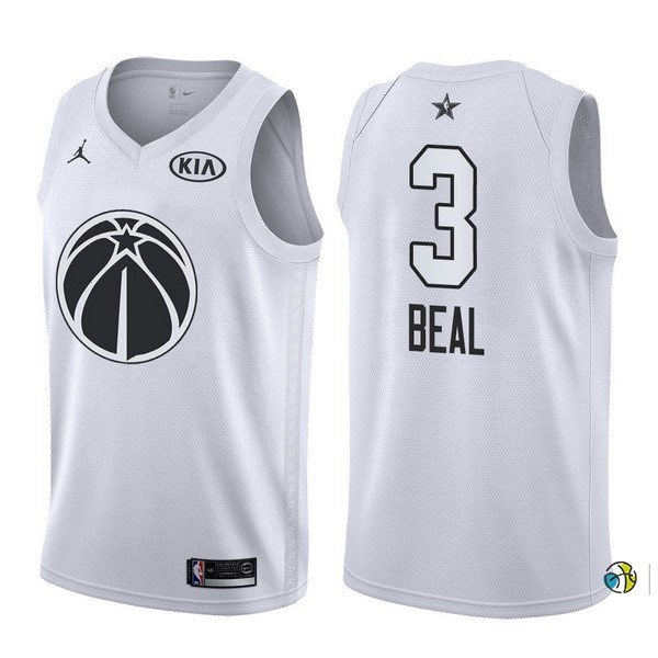 Maillot NBA 2018 All Star NO.3 Bradley Beal Blanc