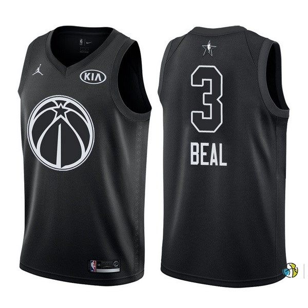 Maillot NBA 2018 All Star NO.3 Bradley Beal Noir
