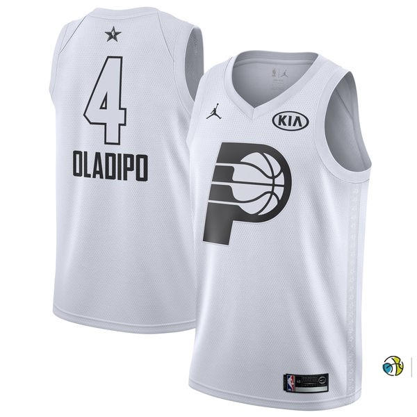 Maillot NBA 2018 All Star NO.4 Victor Oladipo Blanc