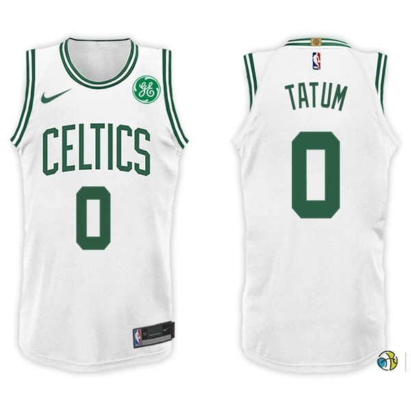 Maillot NBA Boston Celtics NO.0 Jayson Tatum Blanc 2017-18