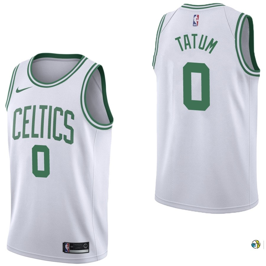 Maillot NBA Boston Celtics NO.0 Jayson Tatum Blanc Association 2017-18