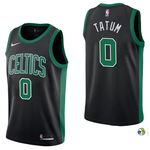 Maillot NBA Boston Celtics NO.0 Jayson Tatum Noir Statement 2017-18