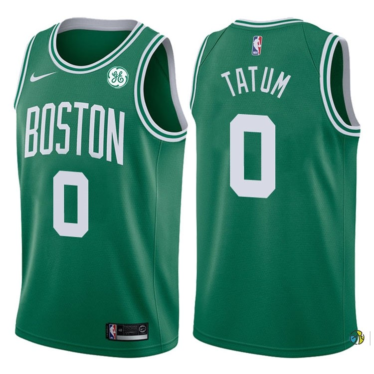 Maillot NBA Boston Celtics NO.0 Jayson Tatum Vert 2017-18