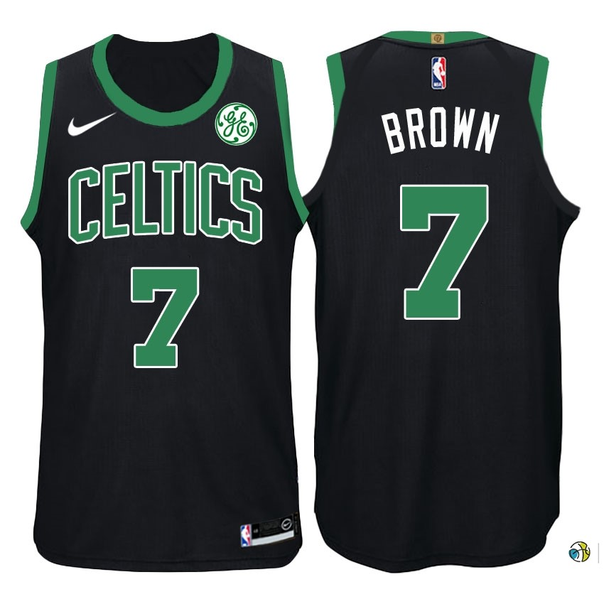 Maillot NBA Boston Celtics NO.7 Jaylen Brown Noir 2017-18