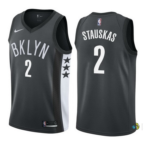Maillot NBA Brooklyn Nets NO.2 Akil Mitchell Noir Statement 2017-18