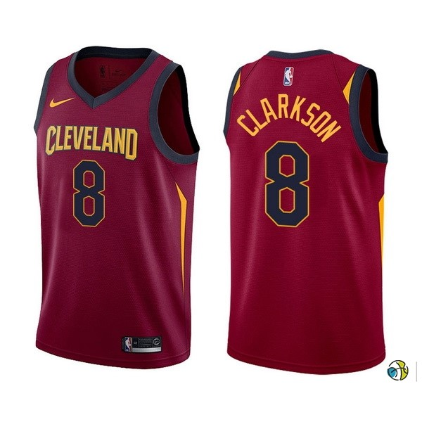 Maillot NBA Cleveland Cavaliers NO.8 Jordan Clarkson Rouge Icon 2017-18