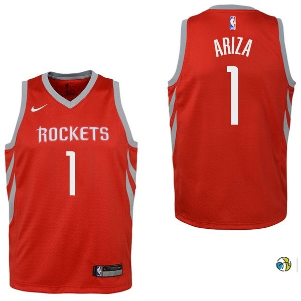 Maillot NBA Enfant Houston Rockets NO.1 Trevor Ariza Rouge Icon 2017-18