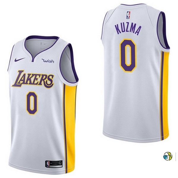 Maillot NBA Enfant Los Angeles Lakers NO.0 Kyle Kuzma Blanc 2017-18