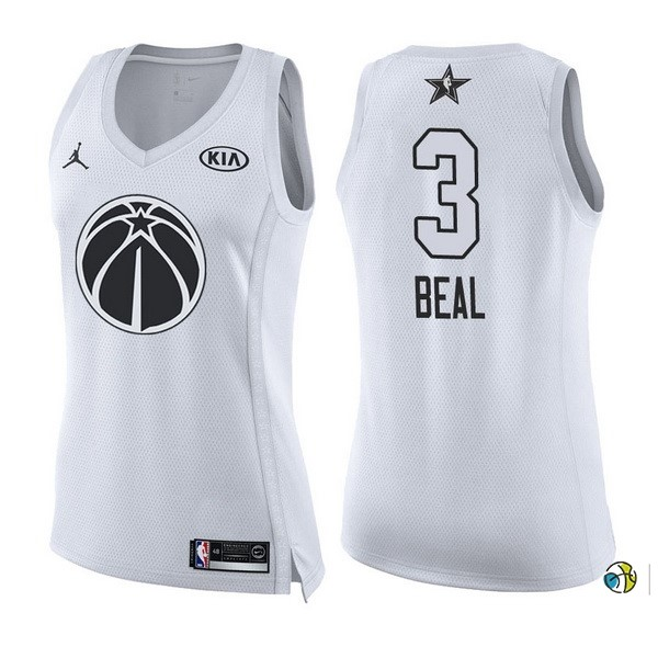 Maillot NBA Femme 2018 All Star NO.3 Bradley Beal Blanc