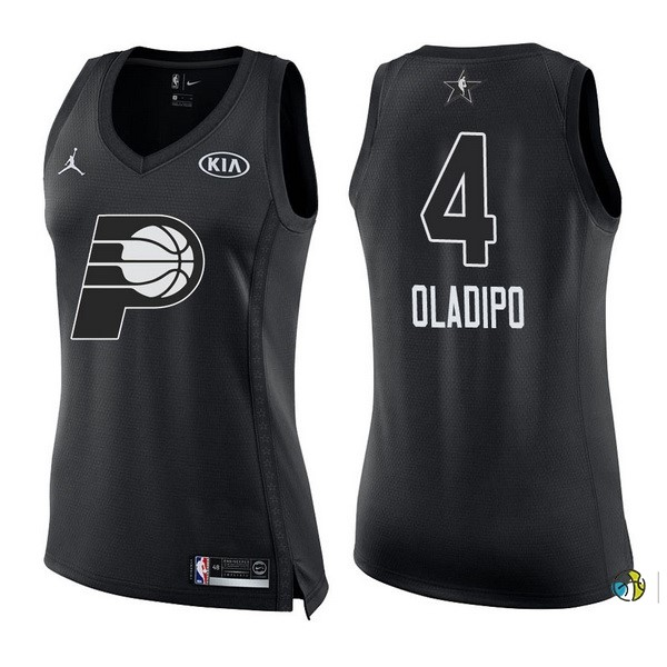 Maillot NBA Femme 2018 All Star NO.4 Victor Oladipo Noir