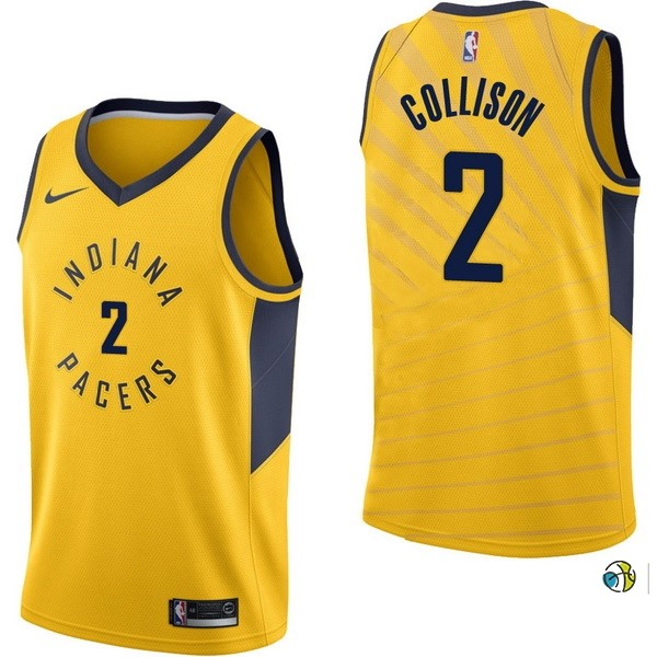 Maillot NBA Indiana Pacers NO.2 Darren Collison Jaune Statement 2017-18
