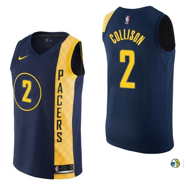 Maillot NBA Indiana Pacers NO.2 Darren Collison Nike Marine Ville 2017-18
