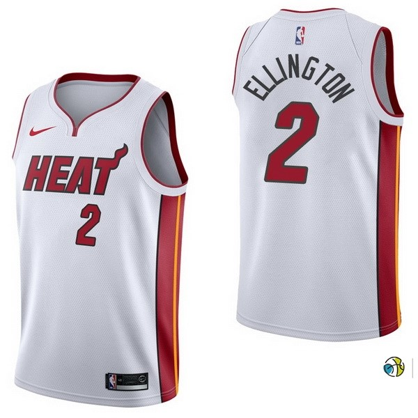Maillot NBA Miami Heat NO.2 Wayne Ellington Blanc Association 2017-18