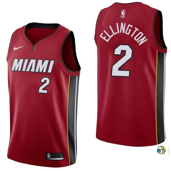 Maillot NBA Miami Heat NO.2 Wayne Ellington Rouge Statement 2017-18