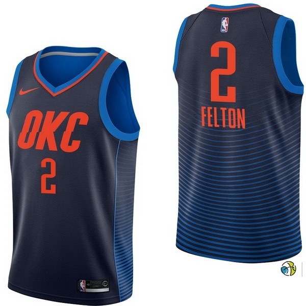 Maillot NBA Oklahoma City Thunder NO.2 Raymond Felton Marine Statement 2017-18