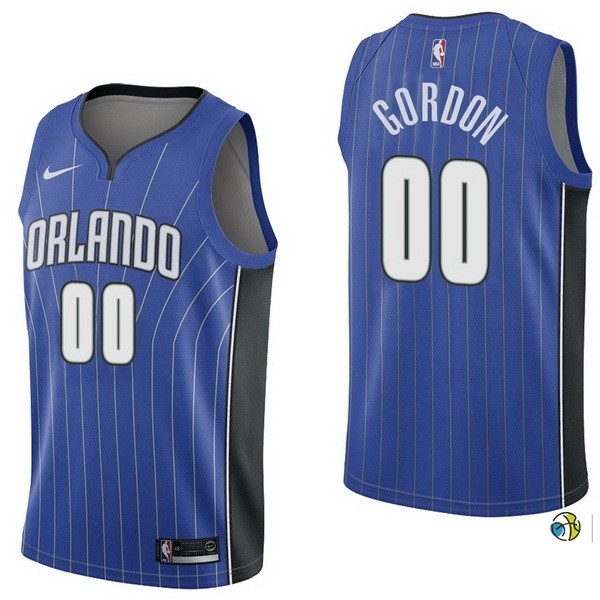 Maillot NBA Orlando Magic NO.0 Aaro Gordon Bleu Icon 2017-18