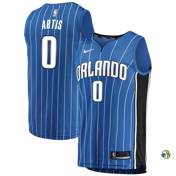 Maillot NBA Orlando Magic NO.0 Jamel Artis Bleu Icon 2017-18