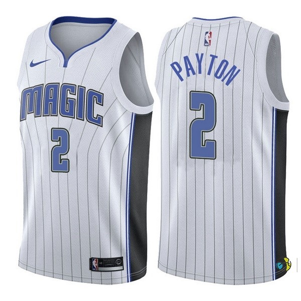 Maillot NBA Orlando Magic NO.2 Elfrid Payton Blanc Association 2017-18