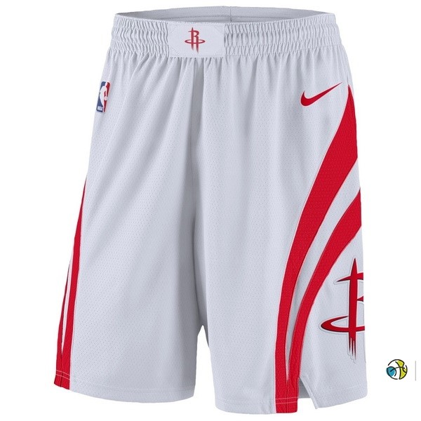 Pantalon Basket Houston Rockets Nike Blanc