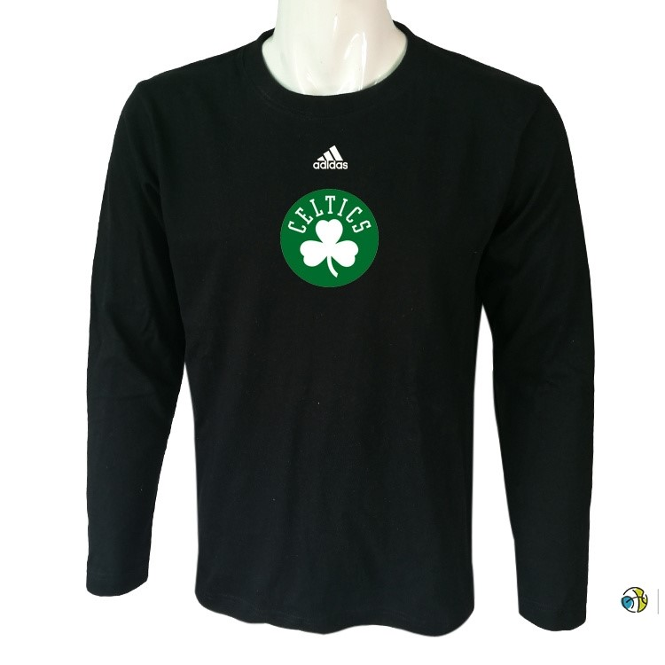 T-Shirt NBA Boston Celtics Manches Longues Noir