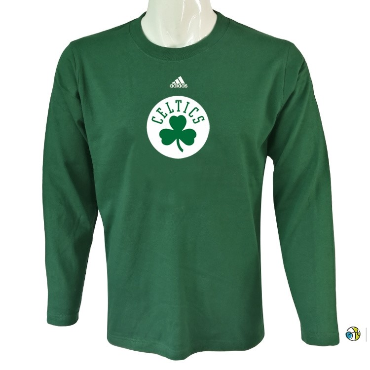 T-Shirt NBA Boston Celtics Manches Longues Vert
