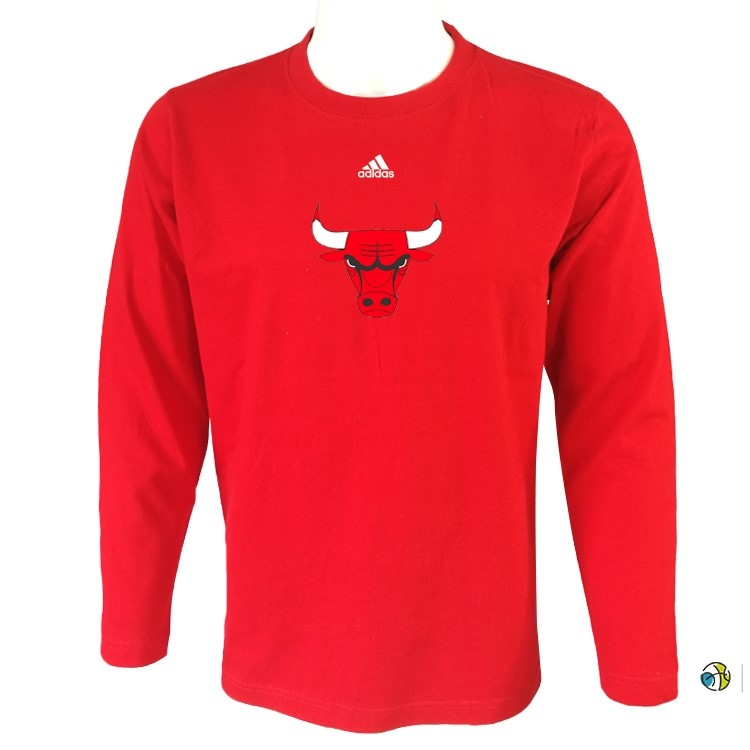 T-Shirt NBA Chicago Bulls Manches Longues Rouge