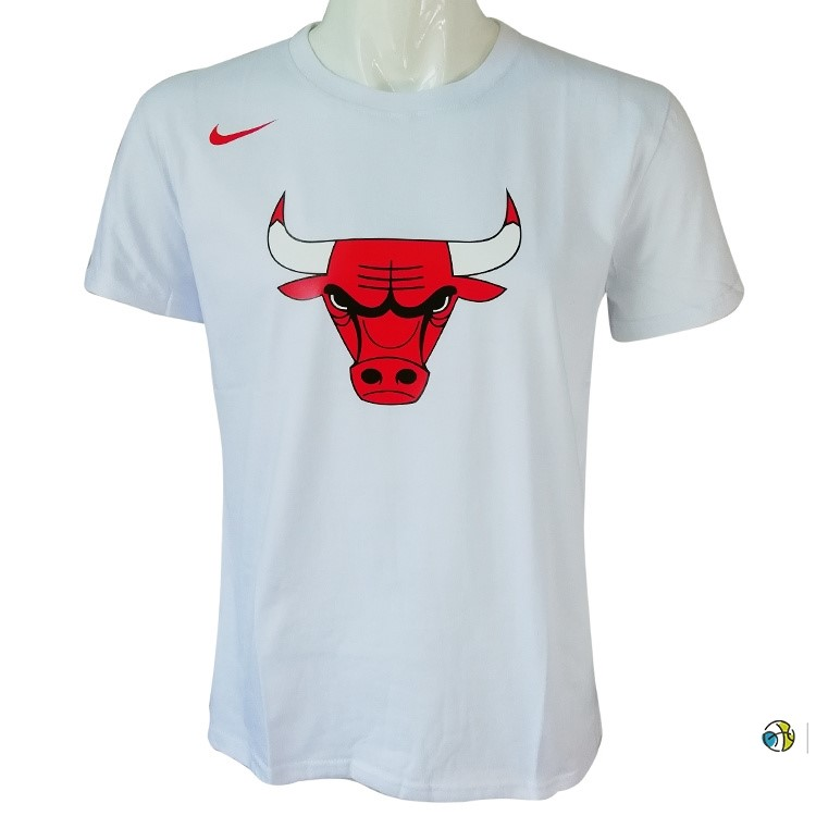 T-Shirt NBA Chicago Bulls Nike Blanc
