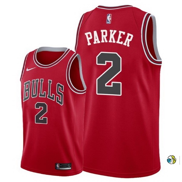 Maillot NBA Chicago Bulls NO.2 Jabari Parker Rouge Icon 2018