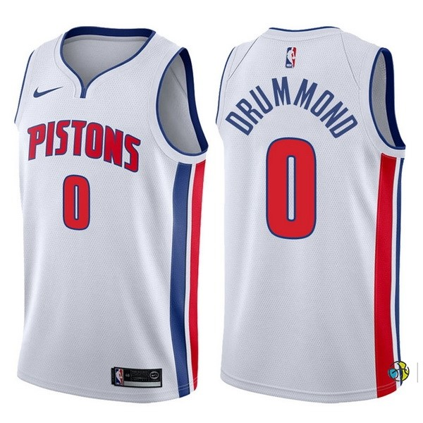 Maillot NBA Detroit Pistons NO.0 Andre Drummond Blanco Association 2017-18