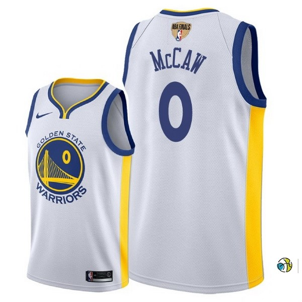 Maillot NBA Golden State Warriors 2018 Final Champions NO.0 Patrick Mccaw Blanco