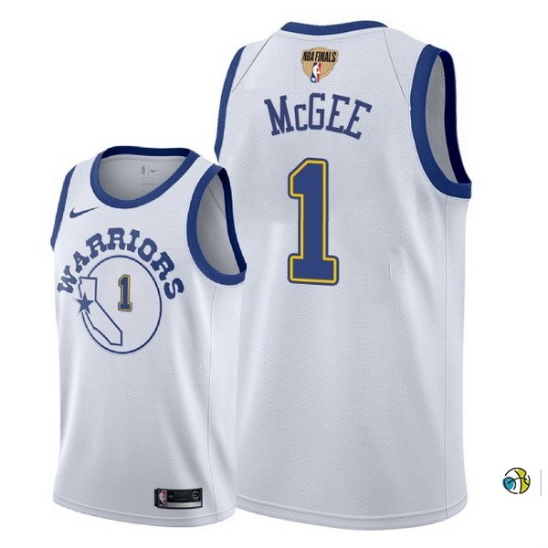 Maillot NBA Golden State Warriors 2018 Final Champions NO.1 Javale Mcgee Retro Blanco