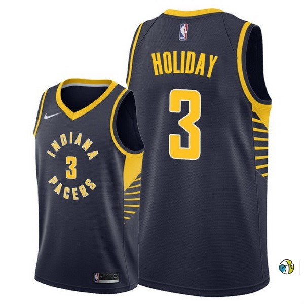 Maillot NBA Indiana Pacers NO.3 Aaron Holiday Marine Icon 2018