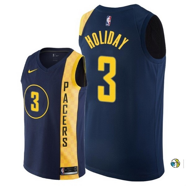 Maillot NBA Indiana Pacers NO.3 Aaron Holiday Nike Marine Ville 2018