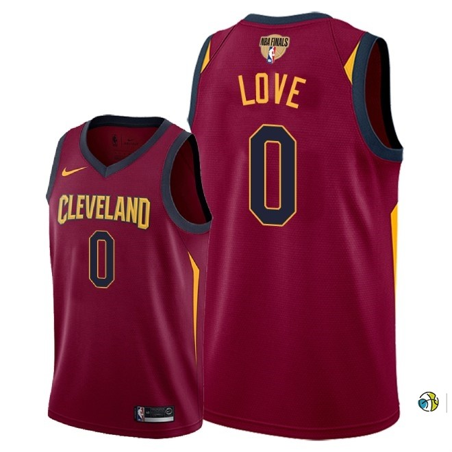 Maillot NBA Cleveland Cavaliers 2018 Final Champions NO.0 Kevin Love Rouge Icon Patch