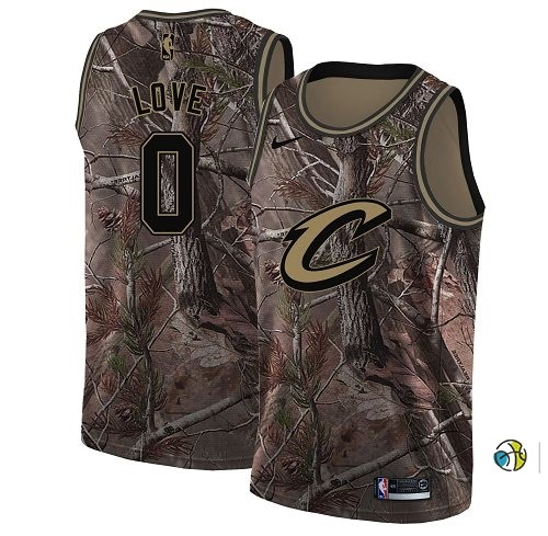Maillot NBA Cleveland Cavaliers NO.0 Kevin Love Camo NBA Swingman Collection Realtree 2018