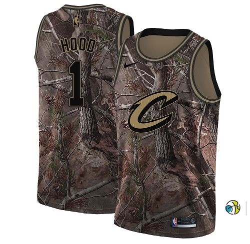 Maillot NBA Cleveland Cavaliers NO.1 Rodney Hood Camo NBA Swingman Collection Realtree 2018