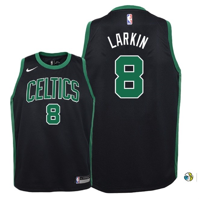Maillot NBA Enfant Boston Celtics NO.8 Shane Larkin Noir Statement 2018