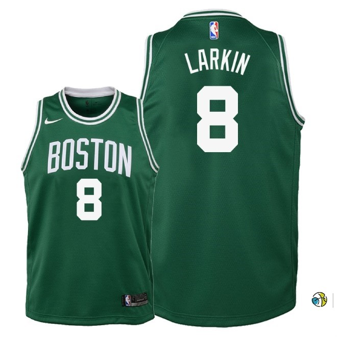 Maillot NBA Enfant Boston Celtics NO.8 Shane Larkin Vert Icon 2018