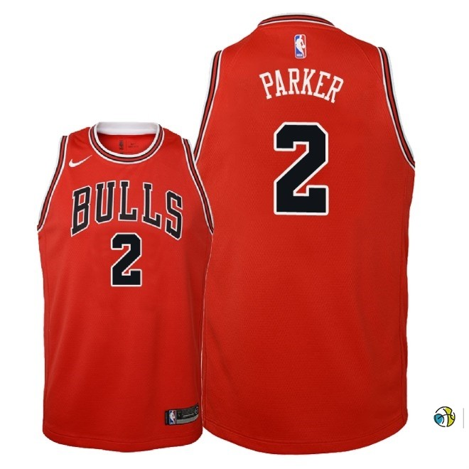 Maillot NBA Enfant Chicago Bulls NO.2 Jabari Parker Rouge Icon 2018