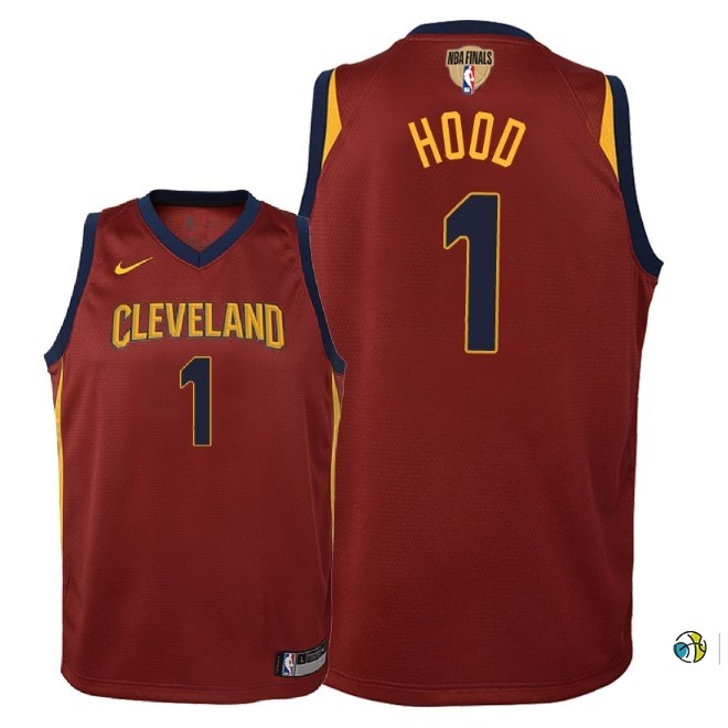 Maillot NBA Enfant Cleveland Cavaliers 2018 Finales Champions NO.1 Rodney Hood Rouge Icon Patch