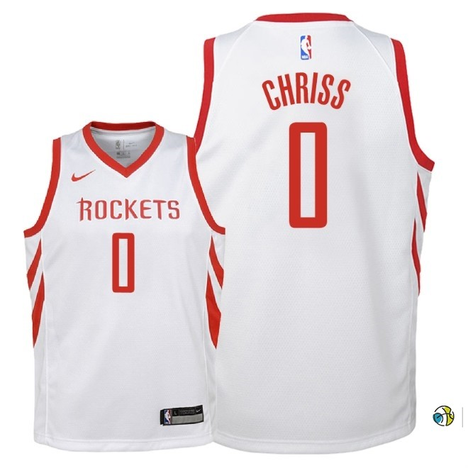 Maillot NBA Enfant Houston Rockets NO.0 Marquese Chriss Blanc Association 2018