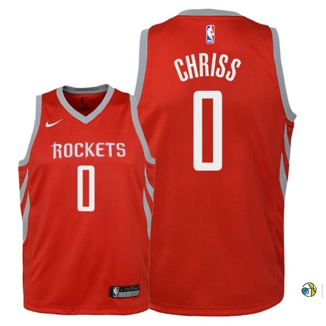 Maillot NBA Enfant Houston Rockets NO.0 Marquese Chriss Rouge Icon 2018