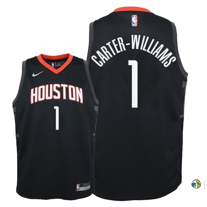 Maillot NBA Enfant Houston Rockets NO.1 Michael Carter Williams Noir Statement 2018