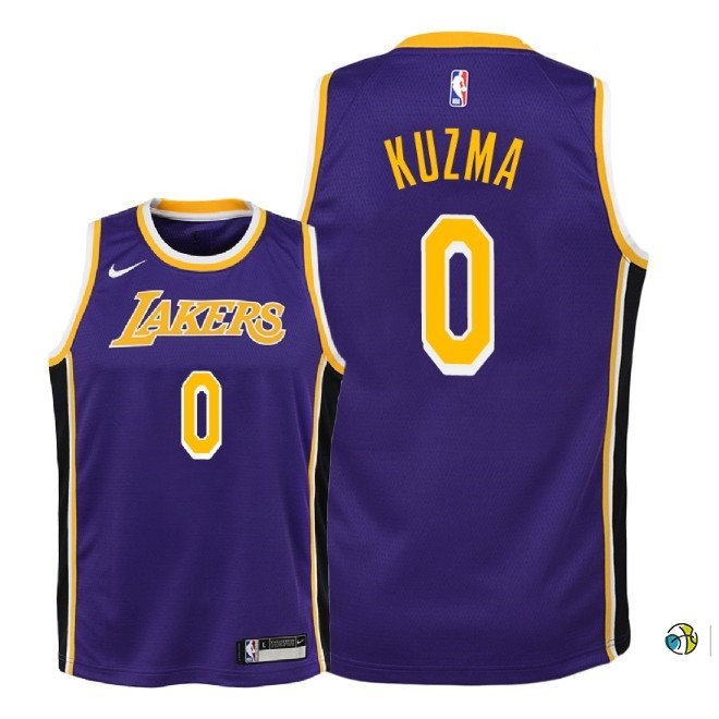 Maillot NBA Enfant Los Angeles Lakers NO.0 Kyle Kuzma Pourpre Statement 2018-19