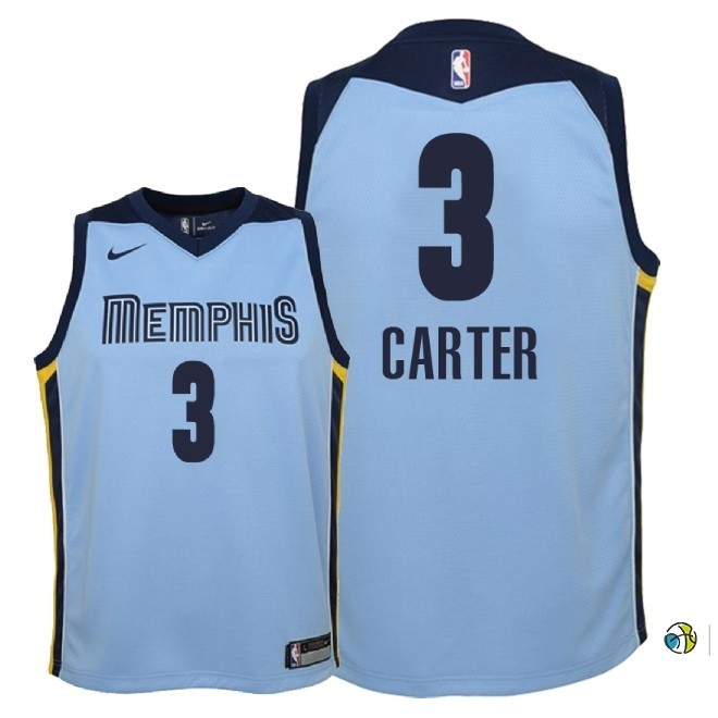 Maillot NBA Enfant Memphis Grizzlies NO.3 Jevon Carter Bleu Statement 2018