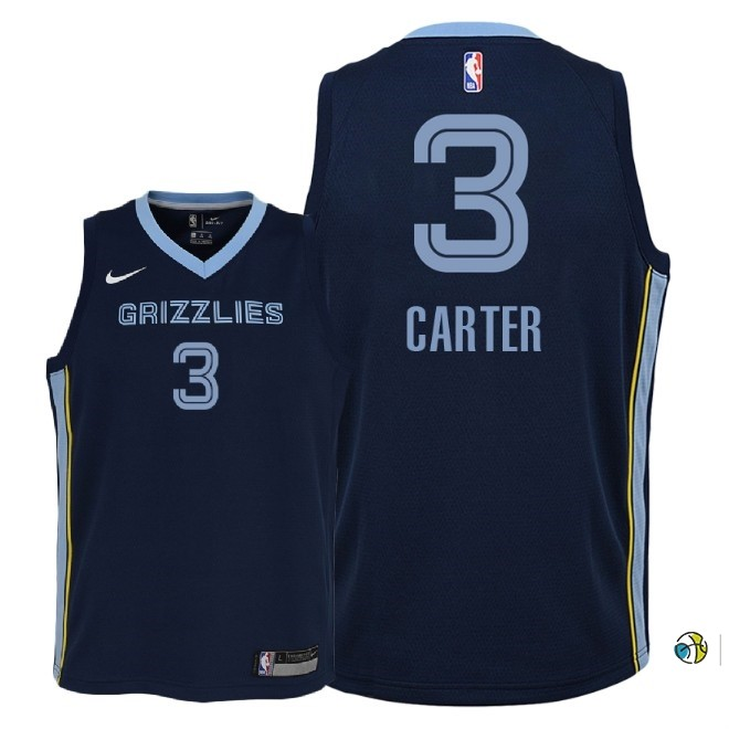 Maillot NBA Enfant Memphis Grizzlies NO.3 Jevon Carter Marine Icon 2018-19